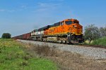 BNSF 6304 takes a ore train Sb with a Clean gevo on the lead.